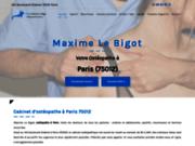 screenshot http://www.osteo-lebigot-paris12.fr/ Ostéopathe Maxime Le Bigot