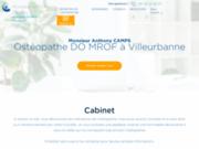 screenshot http://www.osteopathe-camps-lyon.com remboursement consultation ostéopathe villeurbanne lyon - soins ostéopathie villeurbanne - anthony camps