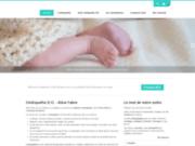 screenshot http://www.osteopathe-fabre.com/ enfant et ostéopathie, paris 15