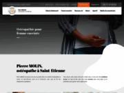 screenshot http://www.osteopathe-molin.com/ ostéopathe sportif, molin
