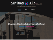 screenshot http://www.outinov-ajc.fr/ fabrication de moule et injection plastique maine et loire 49