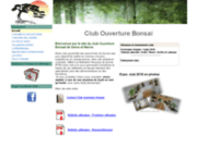 screenshot http://www.ouverturebonsai.com club des amateurs de bonsai de seine et marne