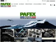 screenshot http://www.pafex.fr pafex - matériel pour la pêche sportive