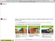 screenshot http://www.palettes-bois-honore.com/ vente palettes bois rénovées, nord de la france