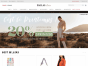 screenshot http://www.pallascuir.com magasin de cuir homme et femme