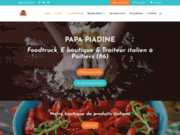 screenshot https://www.papapiadine.fr food truck et épicerie italienne