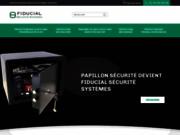 screenshot http://www.papillon-securite.fr armoire et coffre fort papillon sécurité