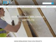 screenshot http://www.papin-platrerie.com/ SARL Bernard Papin