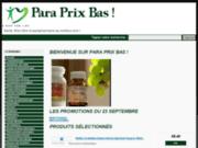 Para-prixbas.fr votre parapharmacie à prix toujours plus bas