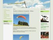 screenshot http://parapente-millau.com parapente à millau