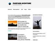 screenshot http://www.parfaim-aventure.com activités de plein air