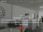 screenshot http://paris-coworking.space/ location de bureaux