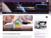 screenshot http://www.paris-demenageur.com déménagement