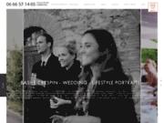 screenshot http://www.paris-photographe-mariage.com BracketingProduction, photographe et cameraman de mariage à Paris