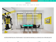 screenshot http://www.paristic.fr stickers vinyle de décoration d'intérieur -  paristic sticker