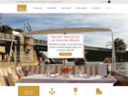 screenshot http://www.parisyacht1.com/ diner croisiere paris