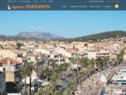screenshot http://www.parramon-immobilier.com/ agence immobilière