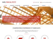 screenshot http://www.pascal-petit.com maisons à ossature bois proche de Vierzon