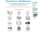 screenshot http://www.passioncadeaux.com boutique en ligne de cadeaux avec passion cadeaux