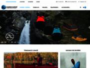 screenshot http://www.passionnature.fr passion nature, vente en ligne de canoës kayaks