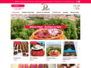 screenshot http://www.patisserie-chocolaterie-pepin.com pâtisserie lyon : gateaux de soirée, confiseries