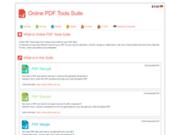screenshot https://www.pdftools-suite.org/ Online Pdf Tools Suite