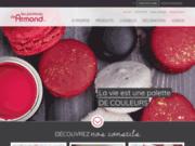 screenshot http://www.peinturesdearmond.com magasin de peinture