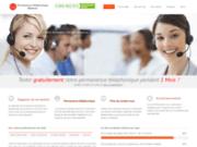 screenshot http://www.permanence-telephonique-medecin.com Permanence Téléphonique Médicale, Télé secrétariat médecin