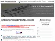 screenshot http://www.permis-exploitation-france.fr Formation au permis d'exploitation