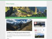 screenshot http://www.perouvoyage.com/ Voyage au Pérou