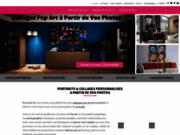 screenshot http://www.personal-art.fr/ Portrait pop art