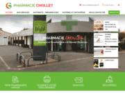 screenshot http://www.pharmacie-chollet-79.com pharmacie installéé à Saint Maixent l'Ecole