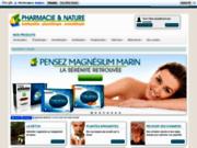 screenshot http://pharmacieetnature.com/ homéopathie