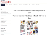 screenshot http://www.philatelie91.fr vente de timbres de france et du monde