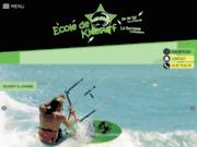 screenshot http://www.philovent.com ecole de kitesurf la rochelle/ile de ré