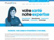 screenshot http://www.physioextra.ca/ clinique de physiothérapie à montréal