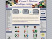 screenshot http://www.pierres-mineraux.com boutique minéraux