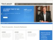 screenshot http://www.pinet-avocats.com/ Cabinet d'avocat à Narbonne