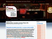 screenshot http://www.pinet-restaurationmeubleancienparis.fr Pinet restauration meuble ancien Paris
