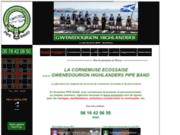 screenshot http://www.pipeband-vannes.com Musique écossaise