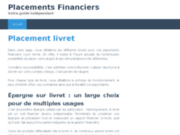 screenshot http://www.placements-financiers.pro/ mini guide des placements financiers
