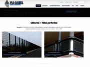 screenshot https://www.plagassol.com/ Pla-Gassol, distributeur de clôtures et tôles perforées