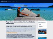 screenshot http://www.plagecorse.com plages-corse