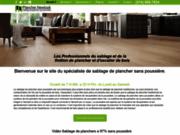 screenshot http://planchernewlook.com/ Sablage de plancher