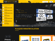 screenshot http://www.plaque-immatriculation-auto.com plaque d'immatriculation