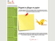Pliage papier.com : origami et pliages en papier