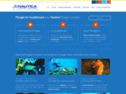 screenshot http://www.plongee-guadeloupe-nautica.fr/ Plongez en Guadeloupe avec Nautica