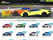 screenshot http://www.pole-position.fr école de pilotage sur circuit