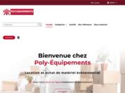 screenshot http://www.polyequipements.com/ location materiel pour les collectivites et equipe
