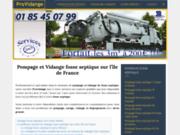 PMP Vidange : pompage de fosse septique et vidange de bac à graisse sur Paris